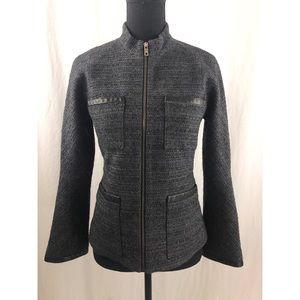THEORY Wool-Blend Tweed 4-Pocket Jacket Sz 4